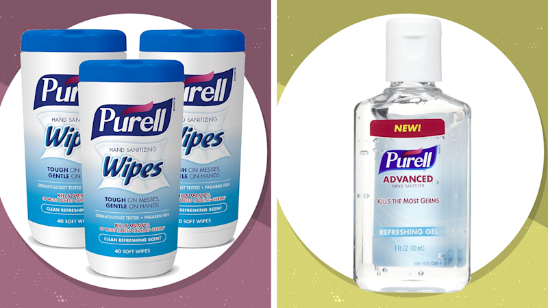 Purell Wipes and Hand Sanitizer are back in stock at Amazon. (Photo: Purell)
