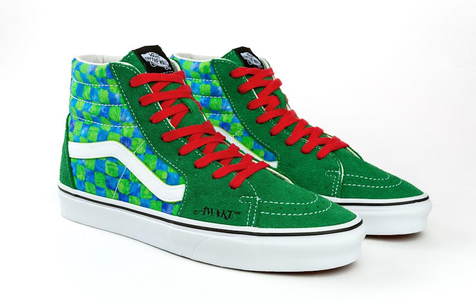 The green colorway of the Awake NY x Vans Sk8-Hi collab. - Credit: Courtesy of Vans