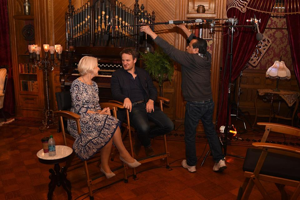 SAN JOSE, CA – MAY 05: Helen Mirren and Jason Clarke, stars of the new CBS Films' 'Winchester', are seen at 'Winchester' Mystery House on May 5, 2017 in San Jose, California. (Photo by C Flanigan/WireImage)