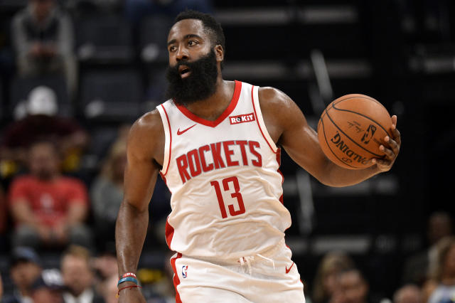 While it's the growing, and controversial, trend in the league, James Harden isn't a load management fan. (AP/Brandon Dill)