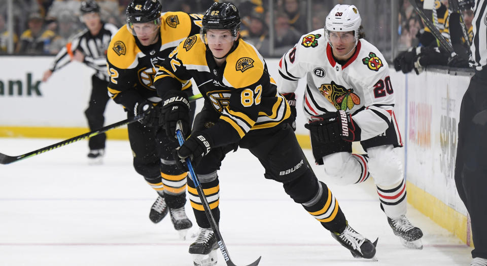 Trent Frederic of the Boston Bruins turned a negative situation into a major positive. (Getty Images)