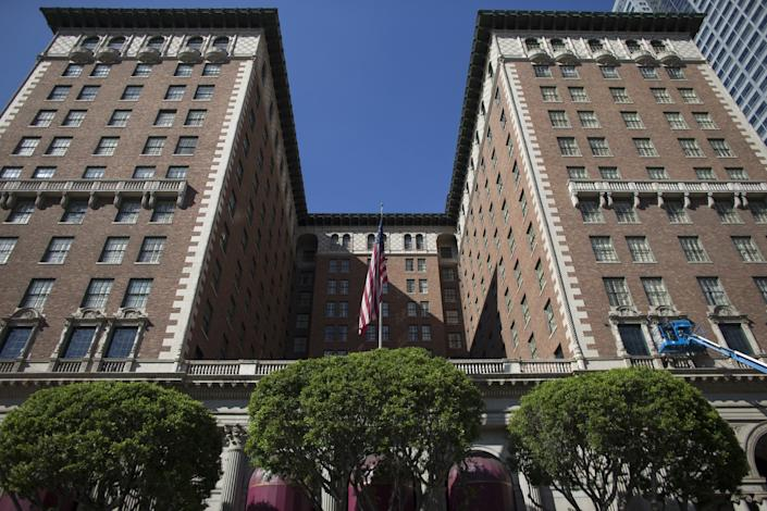 """The Millennium Biltmore Los Angeles did not participate in Project Roomkey after a company threatened to pull its business from the hotel, according to a city report. <span class=""""copyright"""">(Gina Ferazzi / Los Angeles Times)</span>"""