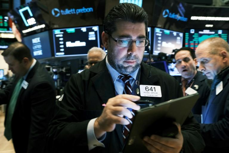 US stocks have retreated from records this week amid doubts over US-China trade talks (AFP Photo/SPENCER PLATT)
