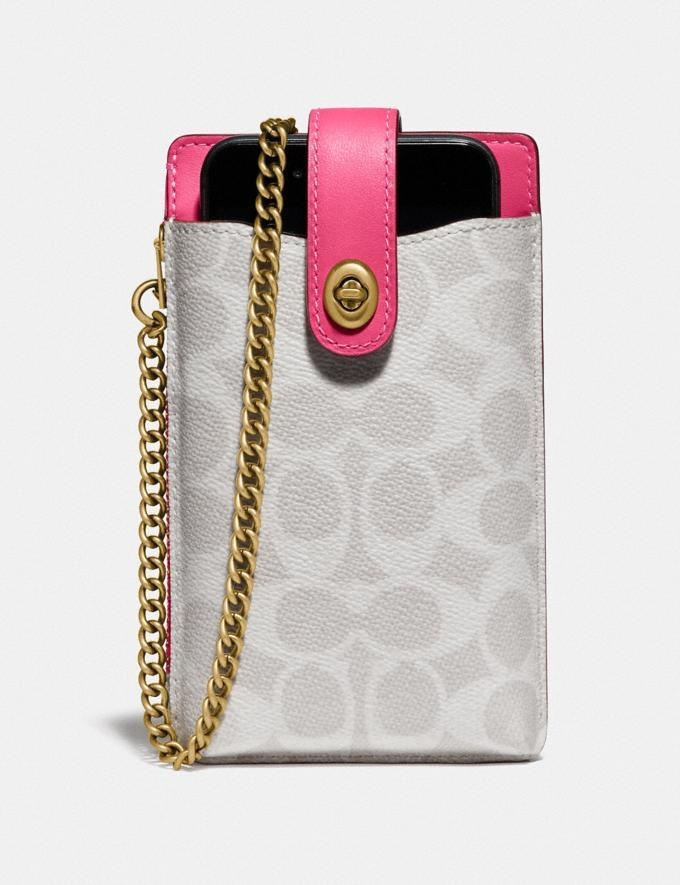 Turnlock Chain Phone Crossbody In Blocked Signature Ca