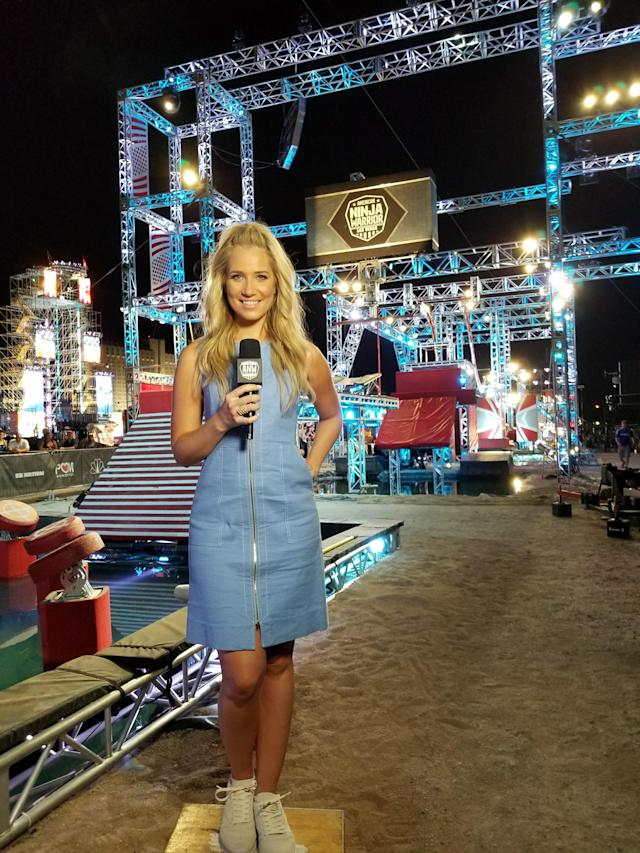 <p>Our course looks incredible at night when it's all lit up! — @kristineleahy </p>