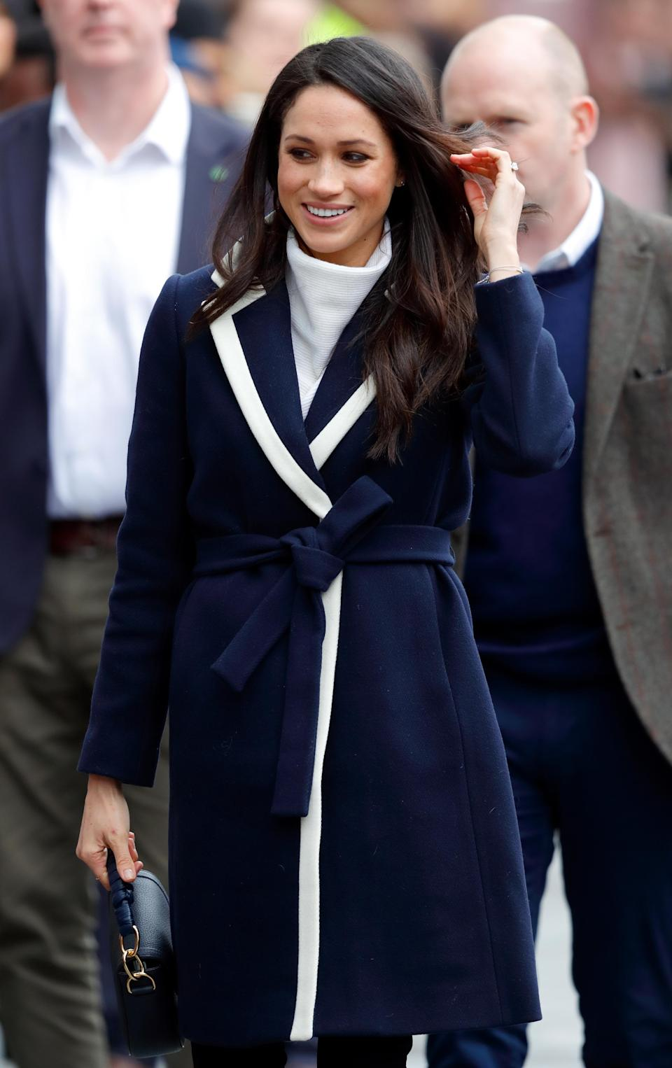 <p>Meghan Markle visits Millennium Point to attend an event celebrating International Women's Day on March 8, 2018 in Birmingham, England. (Photo: Max Mumby/Indigo/Getty Images) </p>