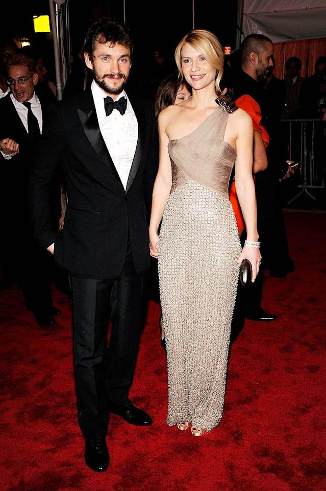 """Hugh Dancy looked fine, but his gal pal, Claire Danes, was breathtaking in a two-tone asymmetrical Armani Prive gown. Larry Busacca/<a href=""""http://www.gettyimages.com/"""" target=""""new"""">GettyImages.com</a> - May 4, 2009"""