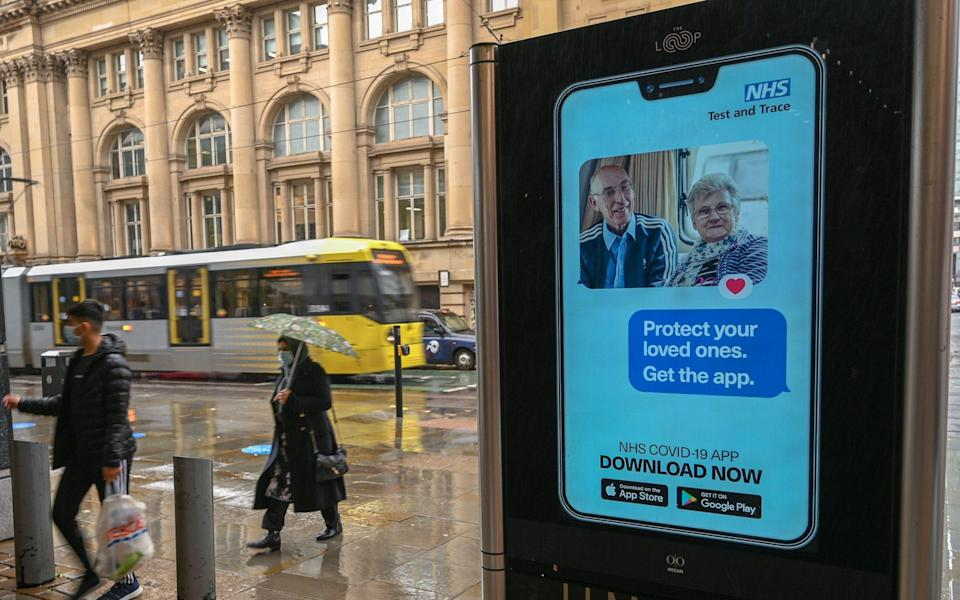 The NHS app has now been downloaded by more than 19 million people - Paul Ellis/AFP