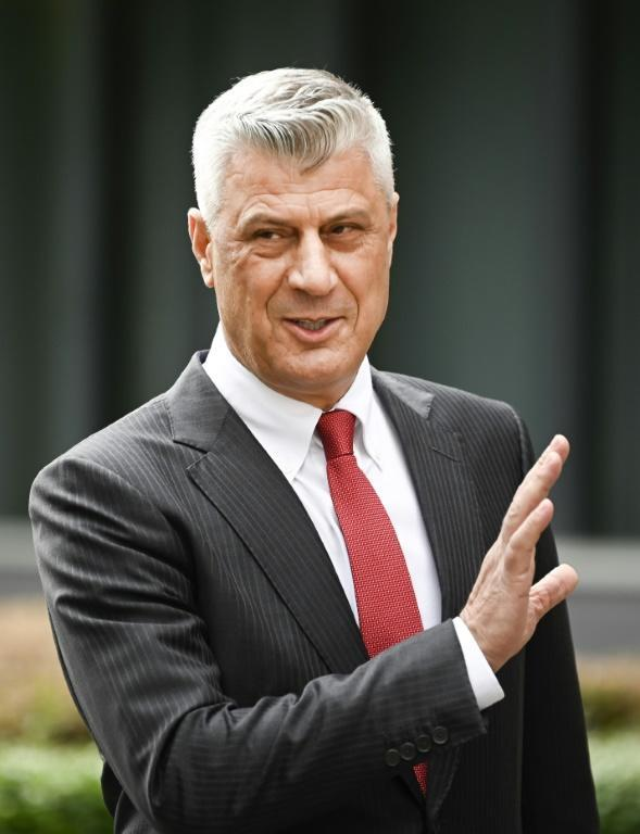Former president Hashim Thaci is awaiting trial in The Hague for crimes including murder, torture and persecution