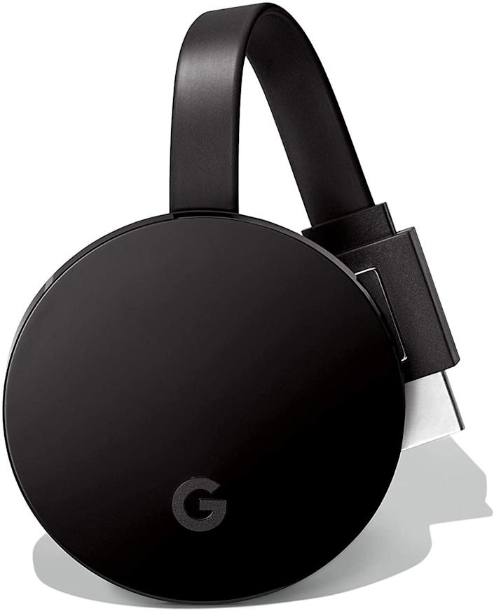 <p>Thanks to this <span>Chromecast Ultra</span> ($69), you can easily play, pause, control the volume, and more by using your phone.</p>