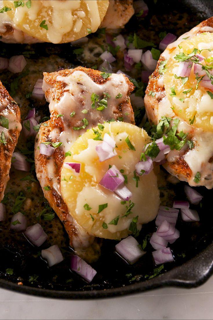 """<p>Forget pineapple on pizza—we love pineapple on this easy chicken dish.</p><p>Get the recipe from <a href=""""https://www.delish.com/cooking/recipe-ideas/a27377014/pineapple-baked-chicken-recipe/"""" rel=""""nofollow noopener"""" target=""""_blank"""" data-ylk=""""slk:Delish"""" class=""""link rapid-noclick-resp"""">Delish</a>. </p>"""