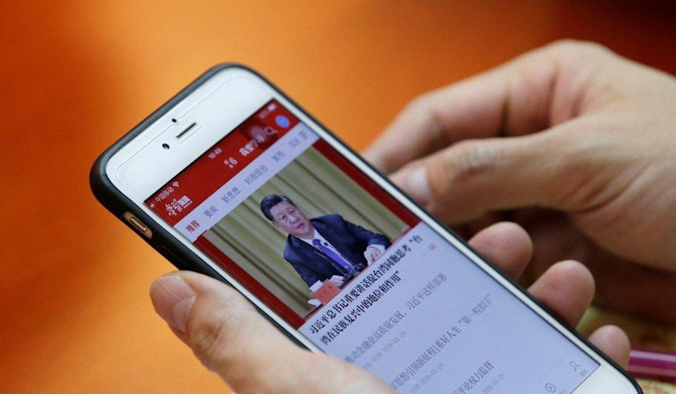 The Xuexi Qiangguo app is mandatory for party members. Photo: Reuters