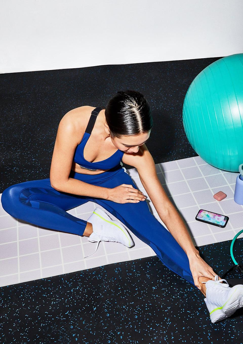 """<p>You're already halfway through the week, so it's time for some recovery. <a href=""""https://www.popsugar.com/fitness/How-Foam-Roll-43984305"""" class=""""link rapid-noclick-resp"""" rel=""""nofollow noopener"""" target=""""_blank"""" data-ylk=""""slk:Foam roll"""">Foam roll</a> for 10 minutes. If you're feeling sore, we suggest taking an <a href=""""https://www.popsugar.com/fitness/do-epsom-salt-baths-work-47532349"""" class=""""link rapid-noclick-resp"""" rel=""""nofollow noopener"""" target=""""_blank"""" data-ylk=""""slk:Epsom salt bath"""">Epsom salt bath</a>. Be sure to hydrate during and after.</p>"""