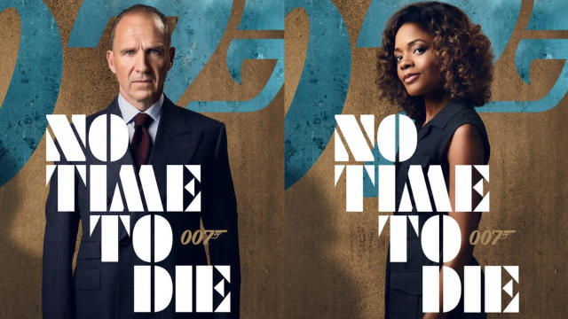 Character posters for Ralph Fiennes and Naomie Harris in James Bond adventure 'No Time to Die'. (Credit: Eon/Universal)