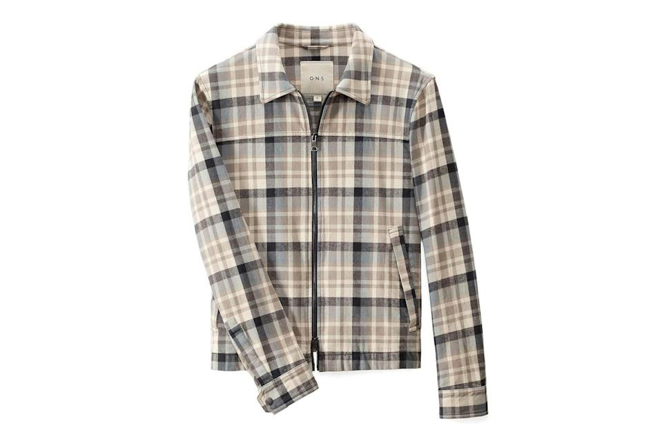 """$198, O.N.S Clothing. <a href=""""https://onsclothing.com/collections/ons-garage/products/checked-connor-car-coat-mjt6381b"""" rel=""""nofollow noopener"""" target=""""_blank"""" data-ylk=""""slk:Get it now!"""" class=""""link rapid-noclick-resp"""">Get it now!</a>"""