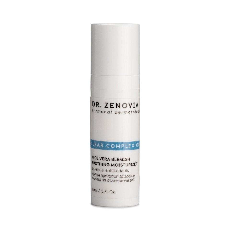 <p>It's a myth that acne-prone skin doesn't require a moisturizer - it just needs the right product. The <span>Dr. Zenovia Aloe Vera Blemish Soothing Moisturizer</span> ($38) helps hydrate your skin, smooth uneven texture, and soothe redness and irritation from acne breakouts all at once.</p>