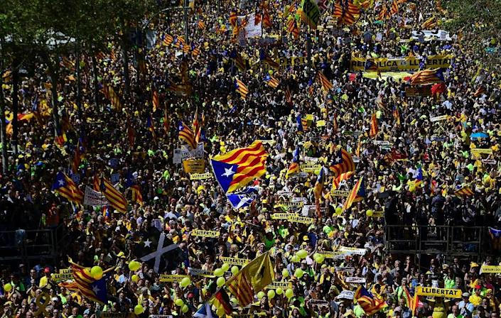 Torra faces a fractious political landscape with various parties planning different approaches to keeping alive the Catalan secession movement (AFP Photo/LLUIS GENE )