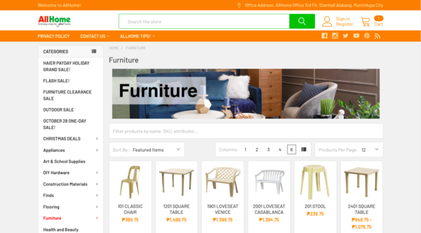 online furniture stores in the philippines - all home