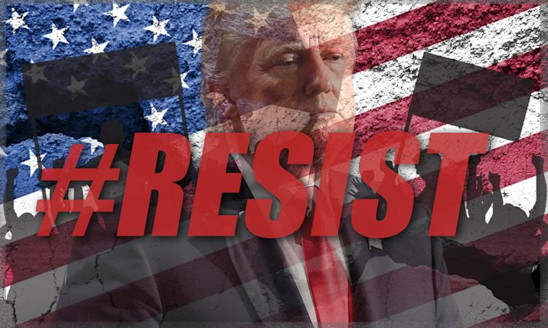 Image result for pics of resist trump