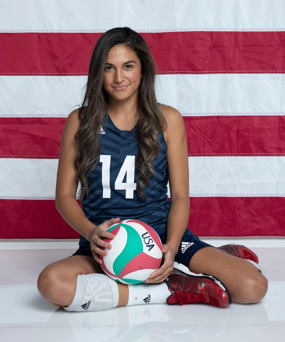 """<strong><h2>Kaleo Kanahele Maclay </h2>Sport: </strong>Sitting Volleyball<br><strong>Instagram</strong>: <a href=""""https://www.instagram.com/kaleomaclay/?hl=en"""" rel=""""nofollow noopener"""" target=""""_blank"""" data-ylk=""""slk:@kaleomaclay"""" class=""""link rapid-noclick-resp"""">@kaleomaclay</a><br><br>Born in Oklahoma, Maclay is a setter who's been training with the Paralympic Sitting Volleyball team since she was only 12 years old. Now she's a two-time Paralympic medalist. When she's <a href=""""https://www.refinery29.com/en-us/30-day-fitness-challenges"""" rel=""""nofollow noopener"""" target=""""_blank"""" data-ylk=""""slk:not training"""" class=""""link rapid-noclick-resp"""">not training</a>, she runs two small businesses — a coffee, bakery, and flower shop called Flower & Flour and baked good company called <a href=""""https://www.instagram.com/cookiesxkaleo/?hl=en"""" rel=""""nofollow noopener"""" target=""""_blank"""" data-ylk=""""slk:Cookies by Kaleo"""" class=""""link rapid-noclick-resp"""">Cookies by Kaleo</a>. <br><br><strong>What's your favorite workout?</strong> <br>""""Pilates and yoga are two of my favorites,"""" she says. """"It's different from our usual <a href=""""https://www.refinery29.com/en-us/2017/02/140256/lifting-weights-strength-training-aging-study"""" rel=""""nofollow noopener"""" target=""""_blank"""" data-ylk=""""slk:weight lifting sessions"""" class=""""link rapid-noclick-resp"""">weight lifting sessions</a> but I love how I feel after a mindful Pilates or yoga session."""" <br><br><strong>What would you be doing if you were not an athlete?</strong> <br>""""I am a baker, I have loved baking and found a passion in it,"""" Maclay says. If she wasn't an athlete, she'd focus on <a href=""""https://www.flowerandflour.co/"""" rel=""""nofollow noopener"""" target=""""_blank"""" data-ylk=""""slk:Flower and Flour"""" class=""""link rapid-noclick-resp"""">Flower and Flour</a> full time, she adds.<br><br><strong>How do you feel to be finally competing after the past year?</strong><br>""""I feel so thankful!"""" Maclay says. """"Thankful to be back together as a team, thankful to be in the gym and thankful to"""