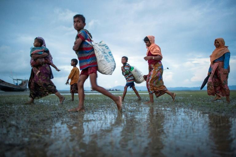 "Hundreds of thousands of Rohingya Muslim refugees fled  into Bangladesh from Myanmar in 2017 after a brutal campaign against them by government security forces that the US and the United Nations has branded an act of ""ethnic cleansing."""