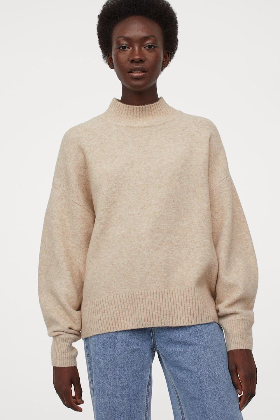 <p>Step out and feel warm in this <span>Fine-knit Sweater</span> ($30), or stay cozy at home.</p>
