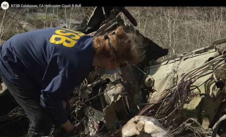 A National Transportation Safety Board (NTSB) expert at the site of the helicopter crash that killed NBA legend Kobe Bryant and eight other people