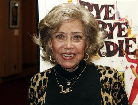 """June Foray poses at the premiere of a digital restoration of """"Bye Bye Birdie"""" in Beverly Hills"""