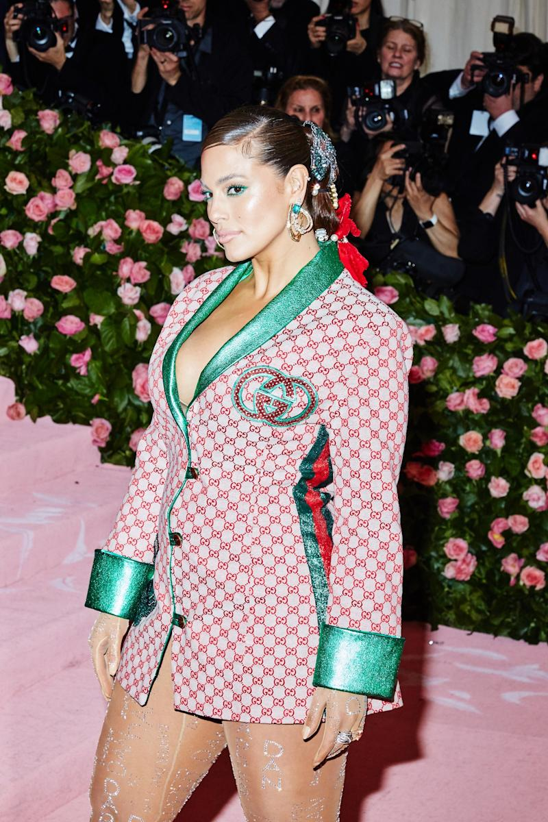Ashley Graham on the red carpet at the Met Gala in New York City on Monday, May 6th, 2019. Photograph by Amy Lombard for W Magazine.