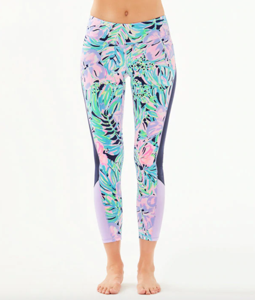 """<p><strong>lilly pulitzer</strong></p><p>lillypulitzer.com</p><p><a href=""""https://go.redirectingat.com?id=74968X1596630&url=https%3A%2F%2Fwww.lillypulitzer.com%2Fupf-50-luxletic-26-weekender-legging%2F000740.html&sref=https%3A%2F%2Fwww.townandcountrymag.com%2Fstyle%2Ffashion-trends%2Fg31940461%2Flilly-pulitzer-sale-march-2020%2F"""" target=""""_blank"""">Shop Now</a></p><p>$80.14</p><p><em>Original Price: $108</em></p>"""