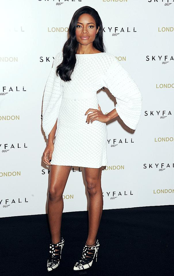 LONDON, ENGLAND - OCTOBER 22:  (EMBARGOED FOR PUBLICATION IN UK TABLOID NEWSPAPERS UNTIL 48 HOURS AFTER CREATE DATE AND TIME. MANDATORY CREDIT PHOTO BY DAVE M. BENETT/WIREIMAGE REQUIRED)   Naomie Harris attends a photocall for the new James Bond film 'Skyfall' at The Dorchester on October 22, 2012 in London, England.  (Photo by Dave M. Benett/WireImage)