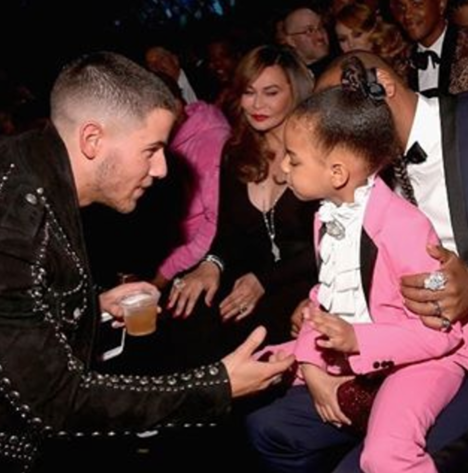 "<p>Singer Nick Jonas introduced himself to the one and only Blue Ivy Carter during an off-camera moment. She looked a little unsure of him at first, although Jay Z seemed to be on his side. (Photo: <a rel=""nofollow"" href=""https://www.instagram.com/p/BQcEM-sBBAt/?taken-by=nickjonas&hl=en""> Instagram</a>) </p>"