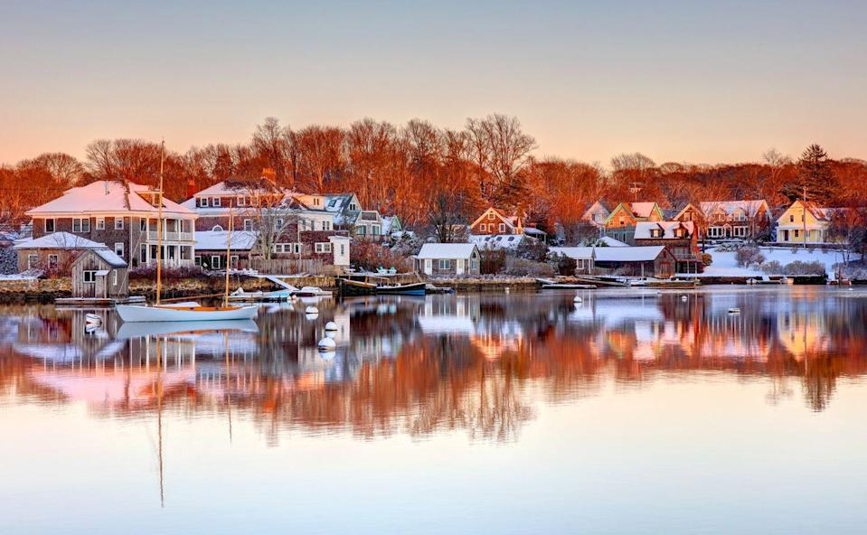 <p>Due to the close proximity to the Atlantic ocean, Cape Cod's water tends to lag behind the seasons. When the winter rolls through, the waters are still warm from the summer and vice versa in the summer season. </p>