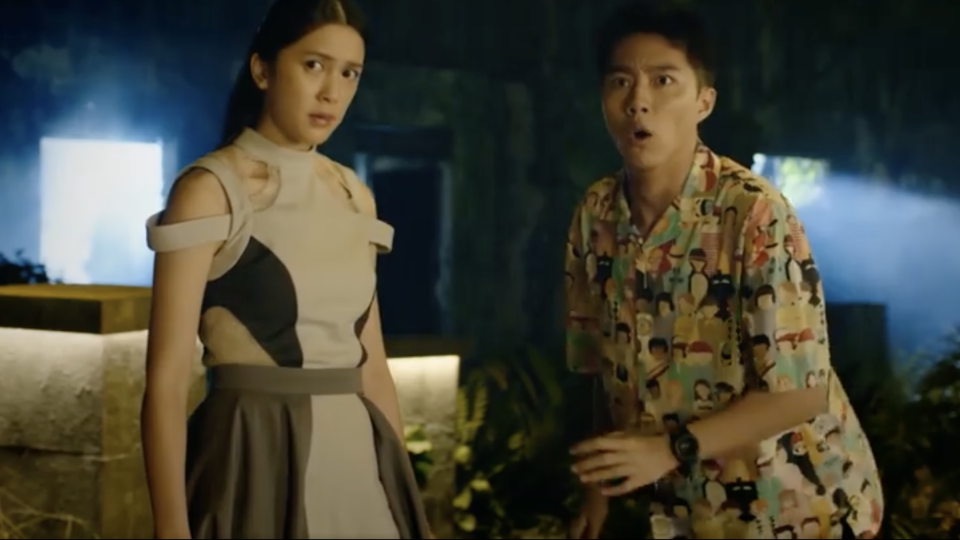 Eugenie Liu is the underworld guide Siu Lo, and Kent Tsai is Stone, the president of the supernatural society in Sometimes When We Touch. (Screenshot: Viu)