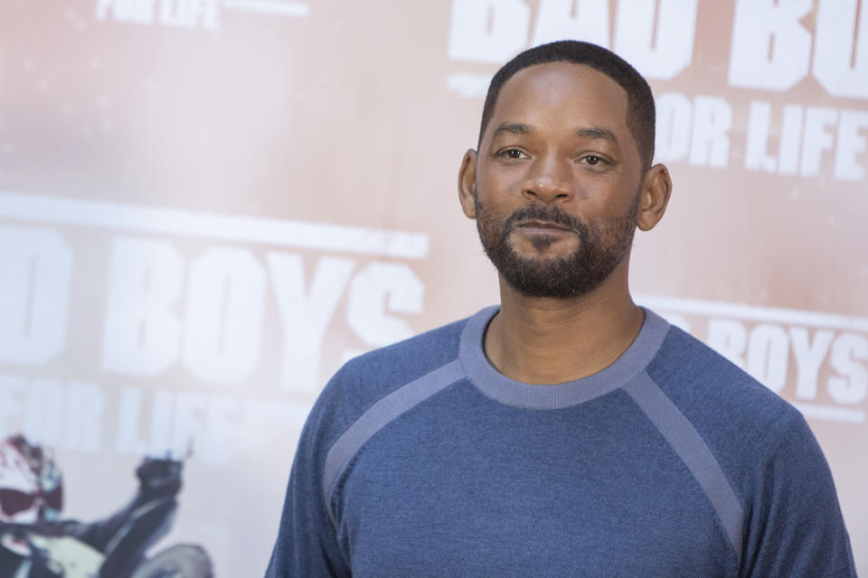 MADRID, SPAIN - JANUARY 08: Us actor Will Smith attends 'Bad Boys For Life' photocall at Villa Magna hotel on January 08, 2020 in Madrid, Spain. (ALTERPHOTOS/David Jar/Sipa USA)
