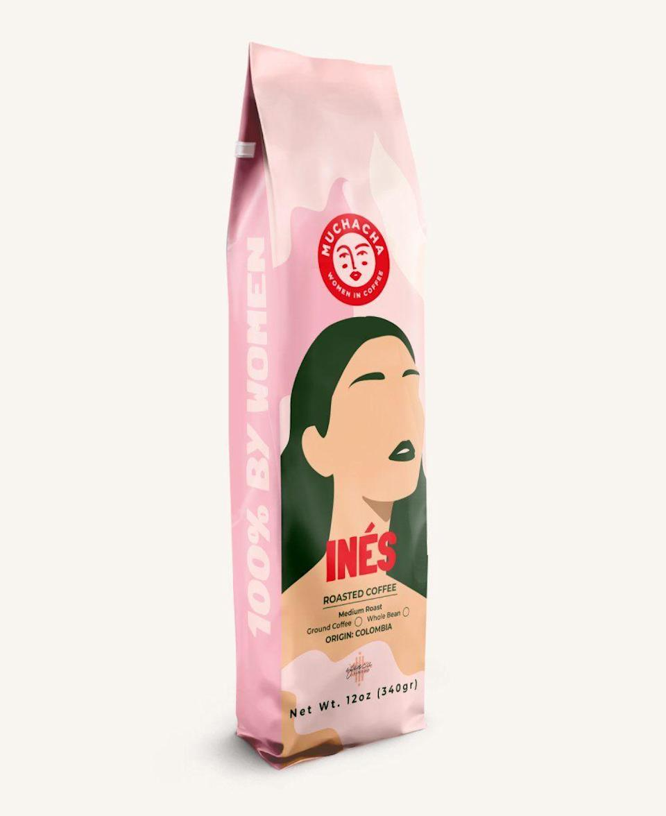 """<p><strong>Muchacha</strong></p><p>wearemuchacha.com</p><p><strong>$18.00</strong></p><p><a href=""""https://wearemuchacha.com/products/coffee?variant=35994576027804"""" rel=""""nofollow noopener"""" target=""""_blank"""" data-ylk=""""slk:BUY NOW"""" class=""""link rapid-noclick-resp"""">BUY NOW</a></p><p><a href=""""https://wearemuchacha.com/pages/about-us"""" rel=""""nofollow noopener"""" target=""""_blank"""" data-ylk=""""slk:Diana Hoyos"""" class=""""link rapid-noclick-resp"""">Diana Hoyos</a>, founder of Muchacha, is changing the coffee industry for women. Born and raised in Colombia, Diana supports and promotes female-led companies through the entire coffee supply chain. Try their medium body <a href=""""https://wearemuchacha.com/products/coffee?variant=35994576027804%27"""" rel=""""nofollow noopener"""" target=""""_blank"""" data-ylk=""""slk:Coffee Inés"""" class=""""link rapid-noclick-resp"""">Coffee Inés</a> and scan the QR code on the back of the package to learn more about the farmers.</p>"""