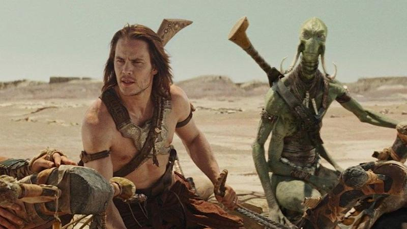 Taylor Kitsch as the title hero in Andrew Stanton's Disney sci-fi 'John Carter'. (Credit: Disney)