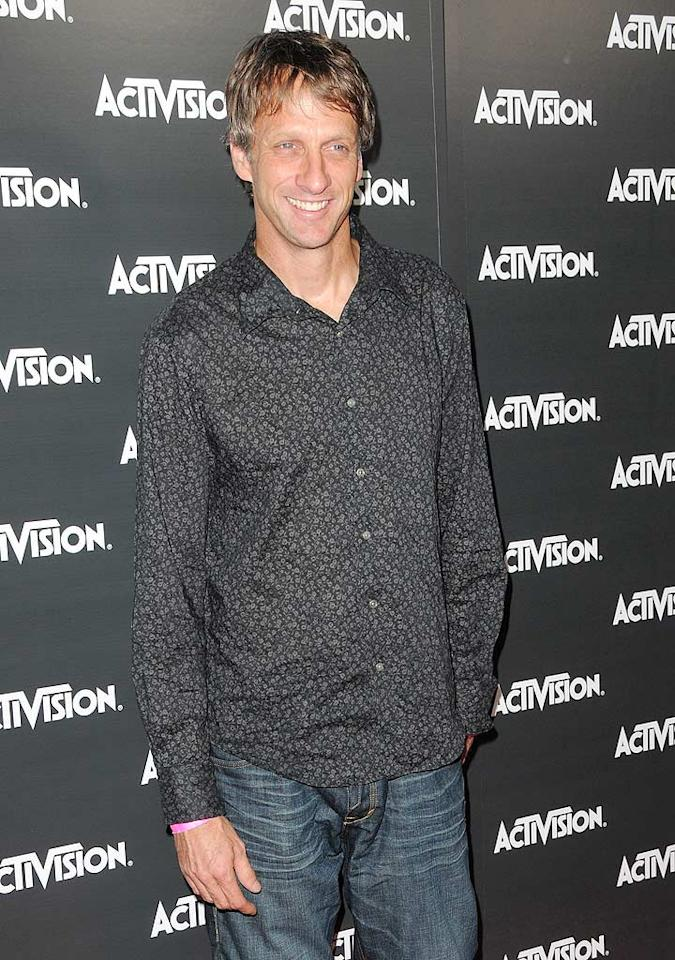 """Guests at the show were treated to a preview of skater Tony Hawk's new game """"Tony Hawk: Shred,"""" a skateboarding and snowboarding title where the visuals look like a moving comic. Jordan Strauss/<a href=""""http://www.wireimage.com"""" target=""""new"""">WireImage.com</a> - June 14, 2010"""