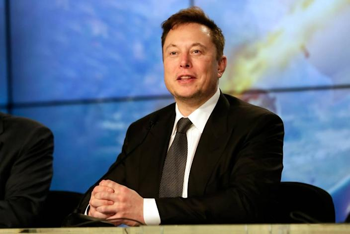 FILE - In this Sunday, Jan. 19, 2020, file photo, Elon Musk founder, CEO, and chief engineer/designer of SpaceX speaks during a news conference after a Falcon 9 SpaceX rocket test flight to demonstrate the capsule's emergency escape system at the Kennedy Space Center in Cape Canaveral, Fla. (AP Photo/John Raoux, File)