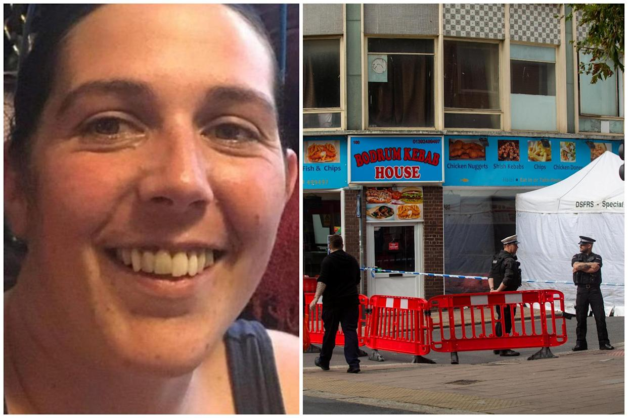 Lorraine Cox was murdered in a flat above a kebab shop in Exeter, prosecutors claim. (SWNS)