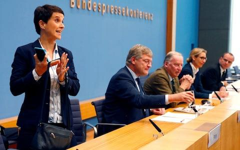 Frauke Petry, chairman of the anti-immigration party Alternative fuer Deutschland (AfD) - Credit: REUTERS/Fabrizio Bensch