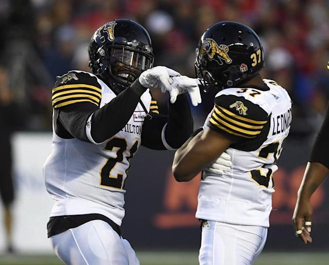 """HAMILTON — The Hamilton Tiger-Cats have locked up two key members of their defence.The Ticats re-signed veteran linebacker Simoni Lawrence to a two-year contract Monday and then came to terms with defensive back Delvin Breaux on a three-year deal.Lawrence, 30, and Breaux, 29, were scheduled to become free agents Tuesday.Lawrence had 68 tackles, three sacks, three tackles for a loss and a fumble recovery last season. The six-foot-one, 231-pound linebacker has started 97-of-113 career CFL games with Edmonton and Hamilton.Lawrence has registered 435 career tackles, 21 tackles for loss, 22 sacks, eight interceptions, 10 forced fumbles and 10 fumble recoveries. He's appeared in 11 playoff games, including two Grey Cup appearances with Hamilton (2013-14).He was the East Division's top defensive player and a CFL all-star in 2015.Breaux is a two-time all-star, the latest honour coming last year after he returned to the Ticats following a three-season run with the NFL's New Orleans Saints.In 2018, Breaux started 14 games boundary corner for the Tiger-Cats, recording 24 defensive tackles, three fumble recoveries, two forced fumbles, two pass knockdowns and one tackle for a loss.""""Delvin is one of the most dominant defensive players in the Canadian Football League,"""" Ticats head coach Orlondo Steinauer said in a statement. """"Not only is he a great player, but a great person who enables us to keep continuity in the secondary. We are very excited to be able to retain a player of his calibre on a long-term deal."""" ARGOS RE-SIGN FINLEYThe Toronto Argonauts have re-signed Canadian defensive lineman Jeff Finley to a one-year deal.The 27-year-old enters his third season with Toronto. Finley, a six-foot-three, 260-pound native of St. Catharines, Ont., has appeared in 20 games having registered 20 tackles, four special-teams tackles and four sacks. HURL REMAINS WITH RIDERSCanadian linebacker Sam Hurl has signed a one-year contract extension with the Saskatchewan Roughriders.The six-foot-on"""