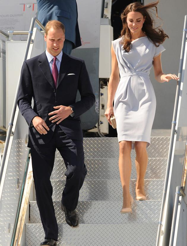 Kate Middleton photos: We doubt the K-Middy pre Prince would have been able to leave a plane so perfectly, and without one crease to her dress! She's effortlessly elegant.