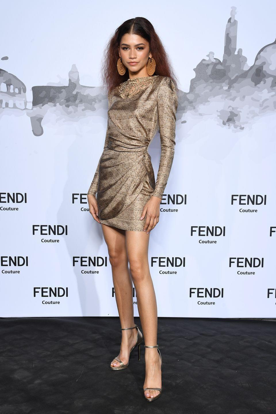 <p>Zendaya wore Fendi for the Fendi Couture show in Rome. </p>