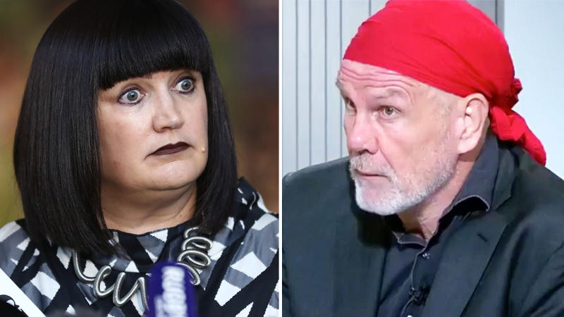 Peter FitzSimons, pictured here discussing the Raelene Castle furore.