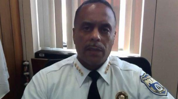 PHOTO: Commissioner Richard Ross of the Philadelphia Police Department gives a statement on the incident that occurred at a Starbucks on April 12, 2018. (Philadelphia Police Department )