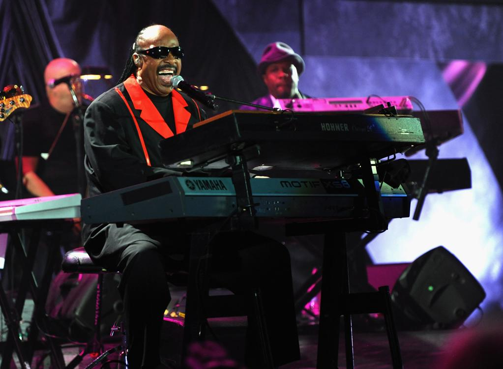 Stevie Wonder performs at A Decade of Difference: A Concert Celebrating 10 Years of the William J. Clinton Foundation on October 15, 2011, at the Hollywood Bowl, Los Angeles. (Photo by Handout/Getty Images for Control Room)