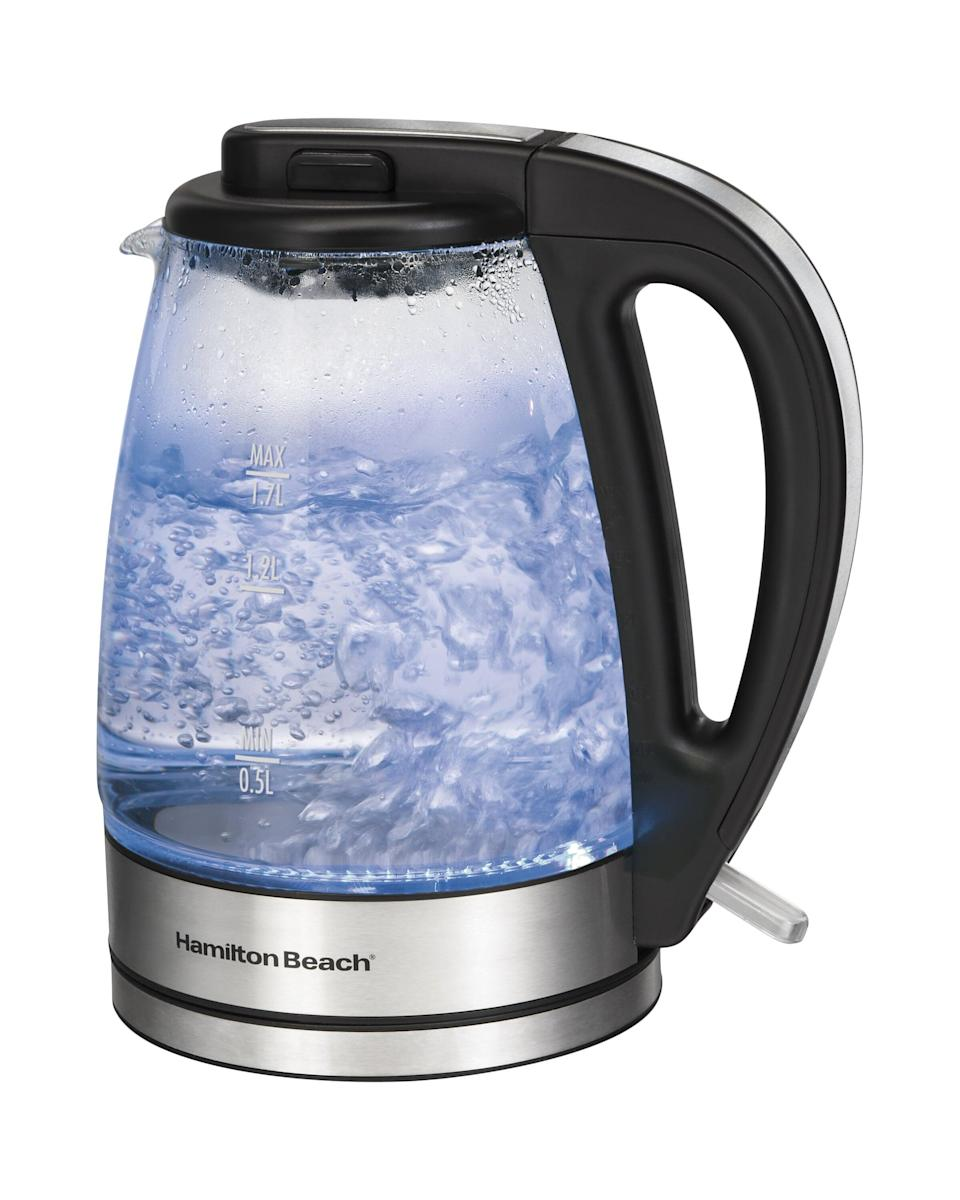 "<p>The see-through design of this <a href=""https://www.popsugar.com/buy/Hamilton-Beach-Glass-Electric-Tea-Kettle-578151?p_name=Hamilton%20Beach%20Glass%20Electric%20Tea%20Kettle&retailer=wayfair.com&pid=578151&price=46&evar1=casa%3Aus&evar9=47538081&evar98=https%3A%2F%2Fwww.popsugar.com%2Fhome%2Fphoto-gallery%2F47538081%2Fimage%2F47538105%2FHamilton-Beach-Glass-Electric-Tea-Kettle&list1=shopping%2Chome%20shopping%2Cwayfair&prop13=mobile&pdata=1"" class=""link rapid-noclick-resp"" rel=""nofollow noopener"" target=""_blank"" data-ylk=""slk:Hamilton Beach Glass Electric Tea Kettle"">Hamilton Beach Glass Electric Tea Kettle</a> ($46) is so cool.</p>"