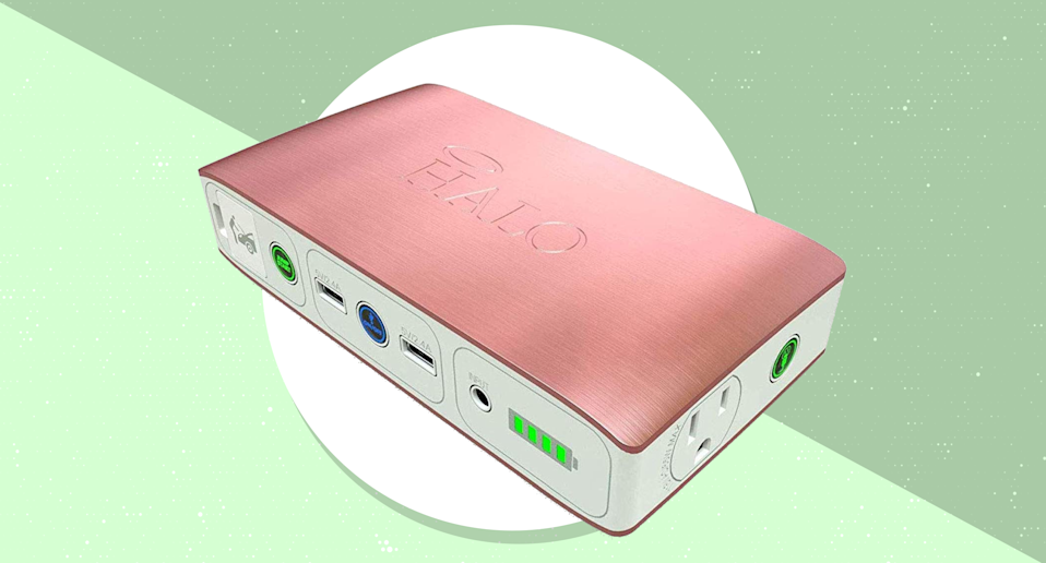 Get the HALO Bolt 58830 Portable Phone Laptop Charger for $100. (Photo: HALO)