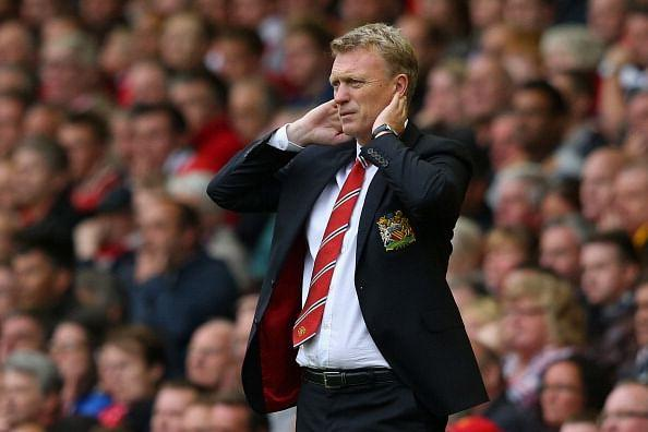 David Moyes watches his team in action against Liverpool